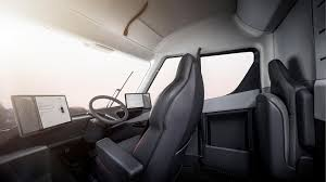 the interior is mive and fortable yet far more simple than a cur semi