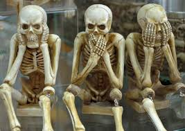 skeletons funny hear no evil speak no evil skull wallpaper