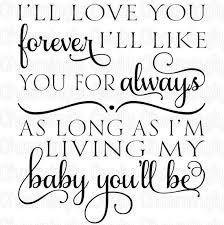 Love You Forever Quote SVG PNG Studio Cuttable Quote For Etsy New I Ll Love You Forever Quote