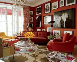 red rooms living room red red walls