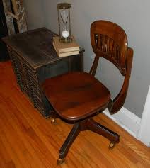vintage metal wood office chair antique wood office chair