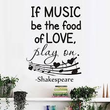 Wenn Musik Werden Das Essen Von Liebe Wandtattoos Home Dekorative