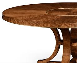 transitional 72 inch round dining table with built in lazy susan 3