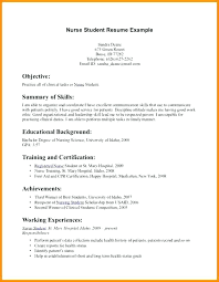 Nursing Mission Statement Resume Sample Nursing Student Resumes