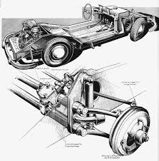 Porsche 356 chassis illustration