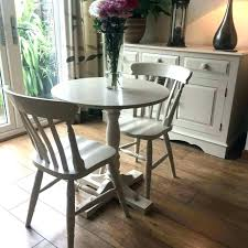small round dining table and 2 chairs dining table 2 chairs shabby chic small and painted
