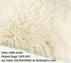 gous com known for it s vast selection of flokati area rugs has added several 100 natural wool greek 1400 gram flokati rugs to it s