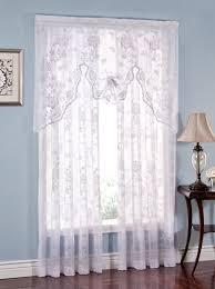 long white abbey rose lace curtain panel by lorraine home fashions abbey rose crushed lace curtains have an elegant all over fl pattern high gauge lace