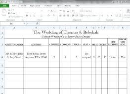 Wedding Excel Checklist Free Wedding Guest List Template Excel Wedding Guest Checklist