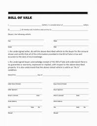 Equine Bill Of Sales Bill Of Sale Template For Trailer Free Printable Lovely Horse Form