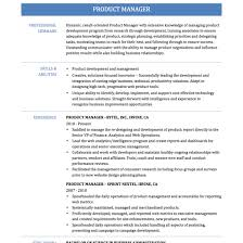 Web Product Manager Sample Resume Product Manager Resume Examples And Sample Best Solutions Of Product 23