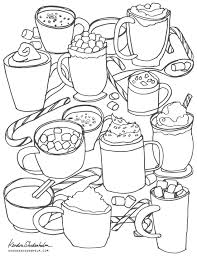 Small Picture Hot Cocoa Sketch Free Coloring Page Kendra Shedenhelm