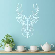 Small Picture geometric stag contemporary wall sticker by making statements