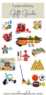 3 year old boy gift guide from Sweet Maple Lane Year Old Boy Gift Guide -