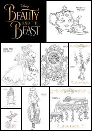 Small Picture Beauty and the Beast Printable Coloring Pages