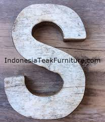 reclaimed boat wood letters alphabet