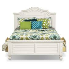 Plantation Bedroom Furniture Plantation Cove Queen Storage Bed White Value City Furniture