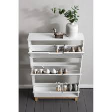shoes storage furniture. Oslo Shoe Storage Unit In White And Natural Cabinet Shoes Furniture