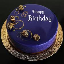 Happy Birthday Royal Blue Designer Cake With Your Name Wedding