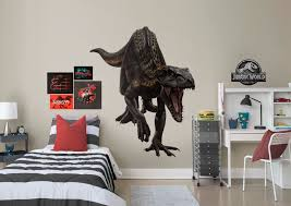 indo raptor jurassic world fallen kingdom giant officially licensed removablewall decal fathead wall