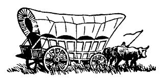 pioneer wagon drawing. wagon train clipart pioneer drawing e