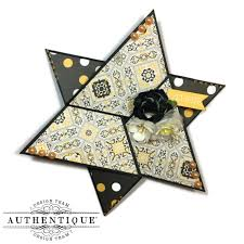 A Star Fold Or Triangle Fold Card With Poised