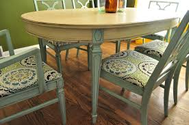 painted tables and chairs