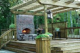 outdoor deck fireplace outdoor fireplace deck pad