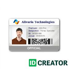identity card size tech employee id card from idcreator