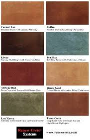 Acid Stain Color Charts