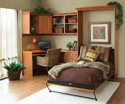 home to office. View In Gallery Cozy Brown Multi-purpose Home Office With Hideaway Bed To R
