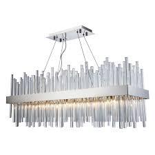 elegant lighting 3000g36c chrome dallas 20 light 36 wide linear chandelier lightingshowplace com