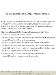 Employee Relation Manager Resume Amazing Top 48 Hr Operations Manager Resume Samples