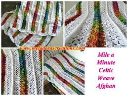 Mile A Minute Crochet Afghan Patterns Beauteous Mile A Minute Rainbow Crochet Afghan AllFreeCrochet