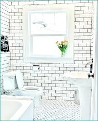 How to grout bathroom tile Ceramic Tile White Subway Tile Black Grout Bathroom Floor And Wall Contrasting Patterns Ideas Ba The Home Depot White Subway Tile Black Grout Bathroom Floor And Wall Contrasting
