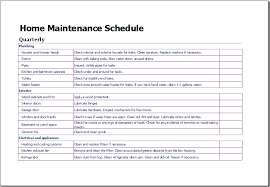 microsoft excel scheduling template home maintenance schedule template for excel excel templates