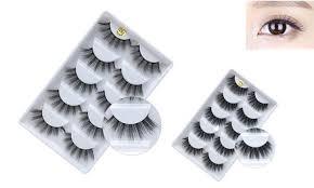 Up To 65% Off on <b>5 pairs 3D Mink</b> Eyelashes Nat... | Groupon Goods