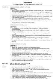 Agile Project Manager Resume Security Project Manager Resume Samples Velvet Jobs 23