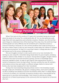 what personal statement format for college application to choose  writing college personal statement format