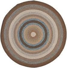 safavieh braided brown area rug 6 x 6 round