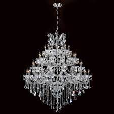 maria theresa chandelier 49 light chrome finish with clear crystals chandelier