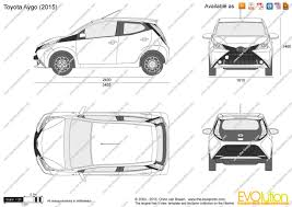 The-Blueprints.com - Vector Drawing - Toyota Aygo