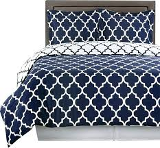 meridian 100 cotton printed 4pc comforter set navy twin twin xl comforter duvet cover pattern echo