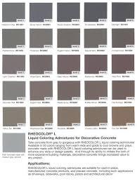 Solomon Concrete Color Chart Color Options American Design Contracting Llc