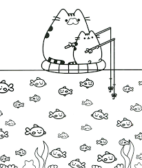 Printable Pusheen Coloring Pages Linear Super Coloring Page