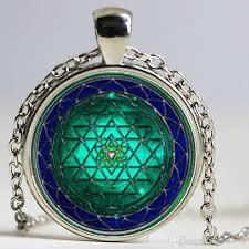 whole sri yantra necklace pendant sacred geometry jewelry vine yoga mandala buddhist jewelry women men necklace gifts ruby pendant necklace star