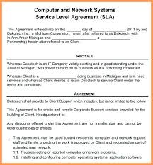 Computer Repair Service Agreement Template 4 Purchase Contract Auto ...