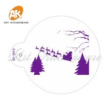 Christmas Stencil Designs Us 1 75 30 Off Christmas Pattern Cake Top Stencil Cookie Skins Stencil Template Wall Stencil Designs Stencil Tools For Fondant Mould St 1292 In Cake