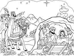 Small Picture Nativity Scene Coloring Page Color Luna