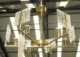 chandelier square glass shades design